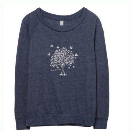 Blue Tree of Life Long Sleeve yoga top