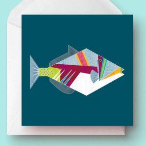 Triggerfish Greetings Card - Triggerfish card 500x500