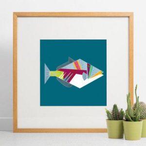 Triggerfish Giclee Print - Triggerfish print 500x500