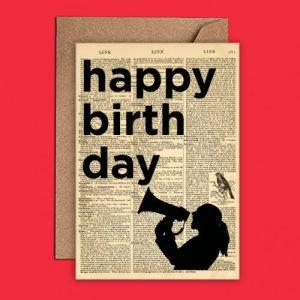 Dictionary Art - Birthday Card - (WAC21503) - WeAct Dictionary Art birthday 500x500