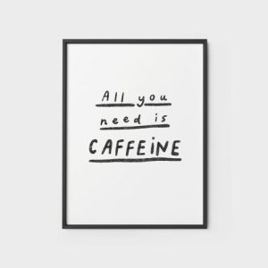 Quote Wall Art Print 2 - All you need is caffeine - all you need is caffeine 500x500