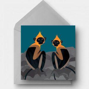Cat Ba Langur Greetings Card - catba langur card 500x500