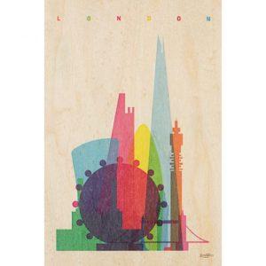 "Wood postcard ""Londres"""