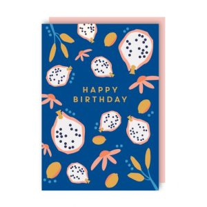 Dragon Fruit Birthday Greeting Card pack of 6