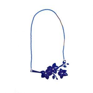 Dark Blue Flower Chain
