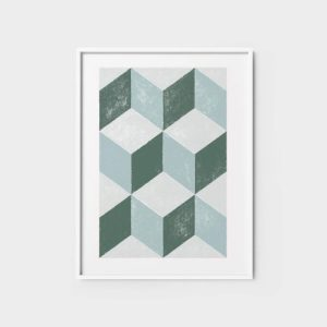 Abstract Wall Art Print 2 - geometric shapes art living room posters abstract wall art 500x500