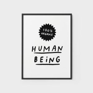 Quote Wall Art Print | Human being - human being2 500x500