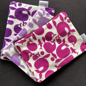 Pouch Whales also trousse make up – Purple | Pure Italy Hand made