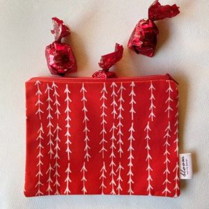 Pouch Tree Collection Xmas – Red | Pure Italy Hand made