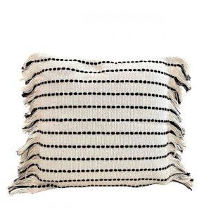 Boho Pillow Cover Lands & Pits Fringes, square 45 x 45 cm