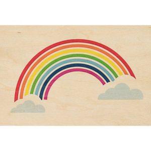 """Wood postcard """"Rainbow"""""""