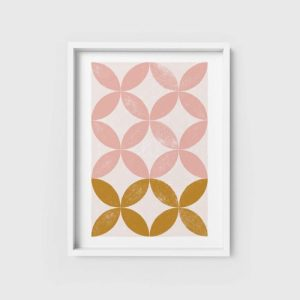 Abstract Wall Art Print 1 - pink abstract kitchen art geometric wall art 500x500