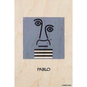 "Wood postcard ""Pablo"""