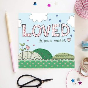 Flossy Teacake Loved Beyond Words valentine card - received 242896597236925 500x500