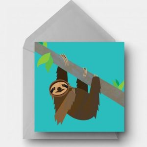 Pygmy Sloth Greetings Card - sloth card 500x500