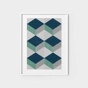 Abstract Wall Art Print 10 - teal abstract wall art geometric wall art posters for bedroom 500x500