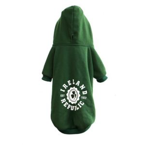 Small Green Dog Hoodie