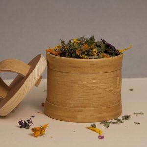 Tea Container - 02 Teedose aus Birkenrinde Taiga birch bark box tea container D13 sagaan 500x500