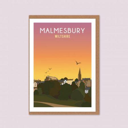 Malmesbury Sunset Greeting Card