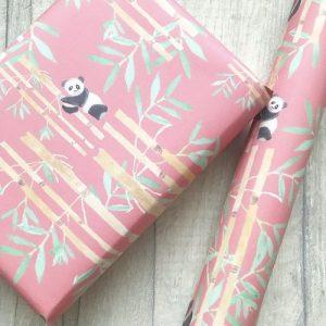 Panda Plume Wrapping paper