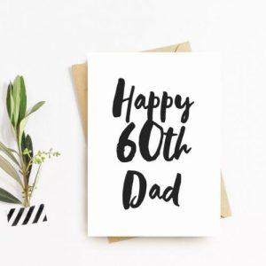 Sixty Birthday Greeting Card – Dad, Daddy, Grandad, Pops, Gramps Happy 60th Birthday Card