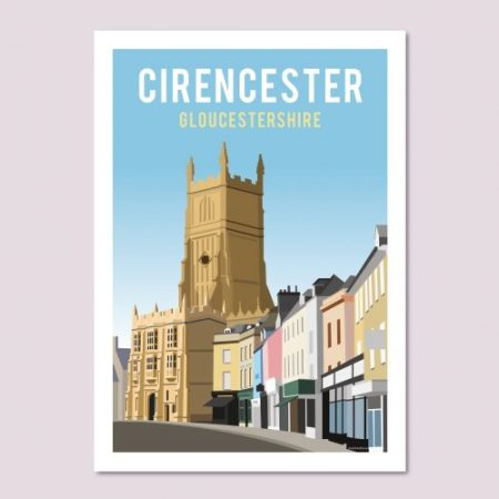 Cirencester Travel Poster
