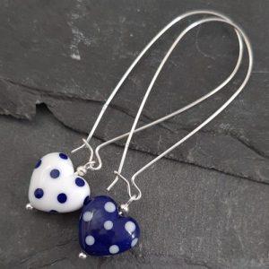 Polka Dotty Heart Earrings - Long length and Regular length options - Polka Dotty Collection - 20210216 132303 500x500