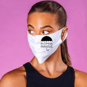 Gilmore Girls Inspired face mask featuring the life and death brigade catchphrase In Omnia Paratus