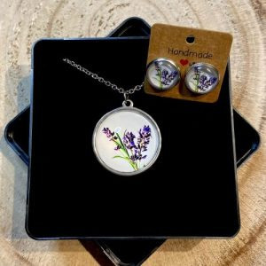 """Stainless steel Earrings & Necklace set """"Natural Lavender"""" - 2b63668e b3ad 4f4d a8ad bece355f3b67 500x500"""