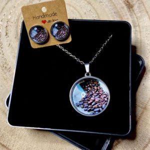 "Stainless steel Earrings & Necklace set ""coffee"" - 2d473731 8082 42d7 b9ea 8983c40f3dd0 500x500"