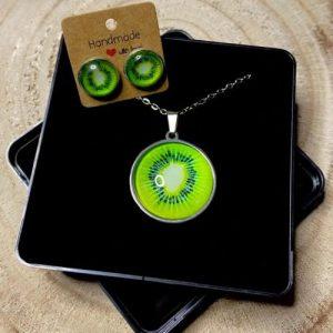 "Stainless steel Earrings & Necklace set ""Kiwi"" - 3297fb36 6a5b 4502 96b7 4fc24e702d07 500x500"