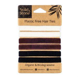 Plastic Free Hair Ties – 6 Pack – Natural