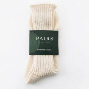 Cream White Mohair Socks