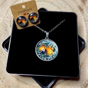 "Stainless steel Earrings & Necklace set ""Contrast Marigold"" - 60edd9dd 3dda 4633 a5ad e34c53334a09 500x500"