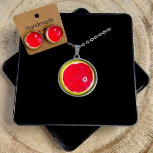 """Stainless steel Earrings & Necklace set """"melon"""" - 6c81fae5 bb2c 4e3b 96a4 e1be9fe9050e 500x500"""