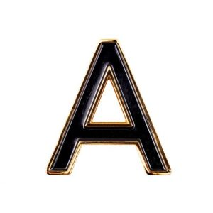 Enamel Letter A Pin