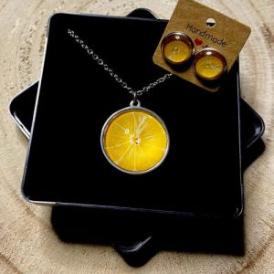 "Stainless steel Earrings & Necklace set ""lemon"" - 7f6d0adb 31fd 4008 b577 7d9fb77d4ab2 500x500"