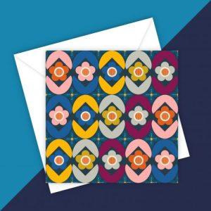 Colourful Scandi style greeting card – blank inside