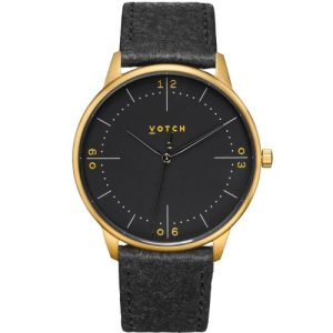 Gold & Piñatex With Black | Aalto Watch