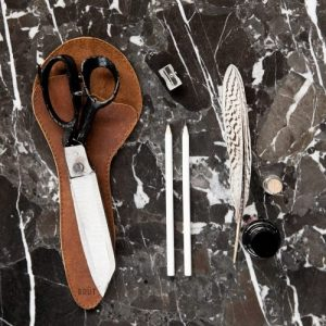 All Purpose Scissors with leather sleeve 11″ by Brut Homeware