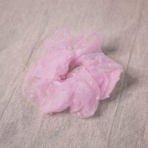 Aya Dotty Scrunchie – Pink