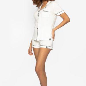 BAMBOO Shirt and Short Pyjama Cream
