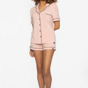 BAMBOO Shirt and Short Pyjama Pink