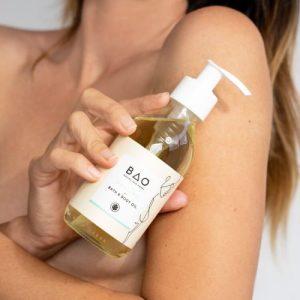 CALMING BATH + BODY OIL 200ml - Bao Lifestyle BodyOilModel 500x500