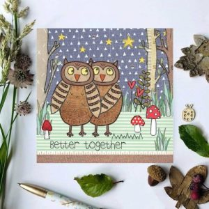 Flossy Teacake Better Together Owls Woodland Card - Better Together 500x500