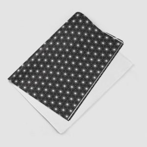 Black Isometric Star Gift Wrap – Pack of 2