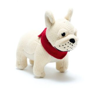 Knitted French Bull dog Rattle - Bulldog rattle 500x500