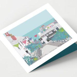 CLOVELLY VILLAGE DEVON Greeting Card