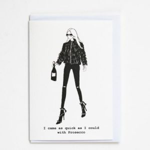 """""""Came With Prosecco"""" A6 Card – Pack of 6"""