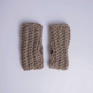 Chunky Alpaca gloves (pepper)